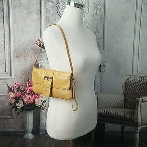 Giani Bernini Small Tan Clutch Handbag Purse